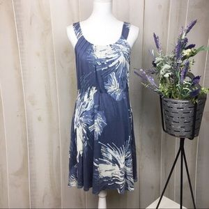 C. Keer Blue Casual Printed Sun Dress
